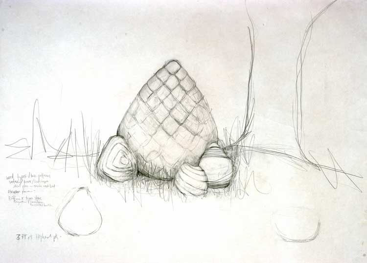 """Study for August Outdoor Commission Graphite 34"""" X 40"""""""