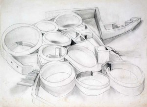 "Study for Chaco Graphite 22"" X 30"""