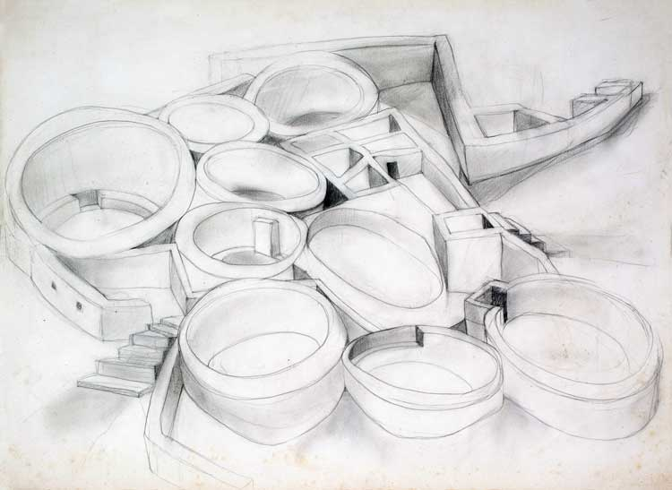 """Study for Chaco Graphite 22"""" X 30"""""""