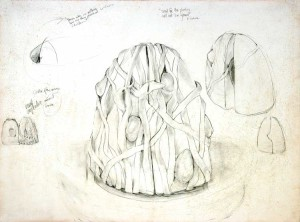 """Study for Omphalos Graphite 22"""" X 30"""""""