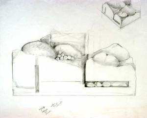 "Study for Wanaki Graphite 30"" X 26"""